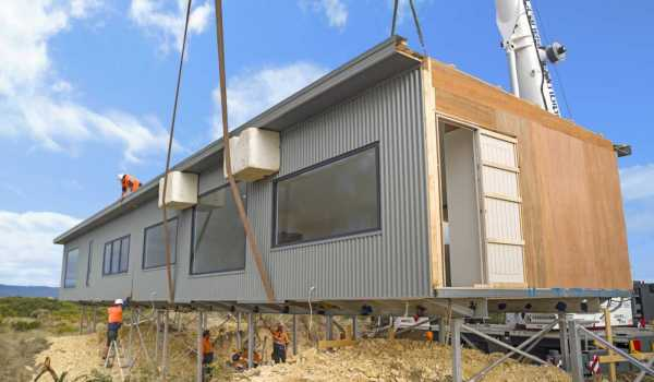 Installation of Modular Home on Steel Peirs