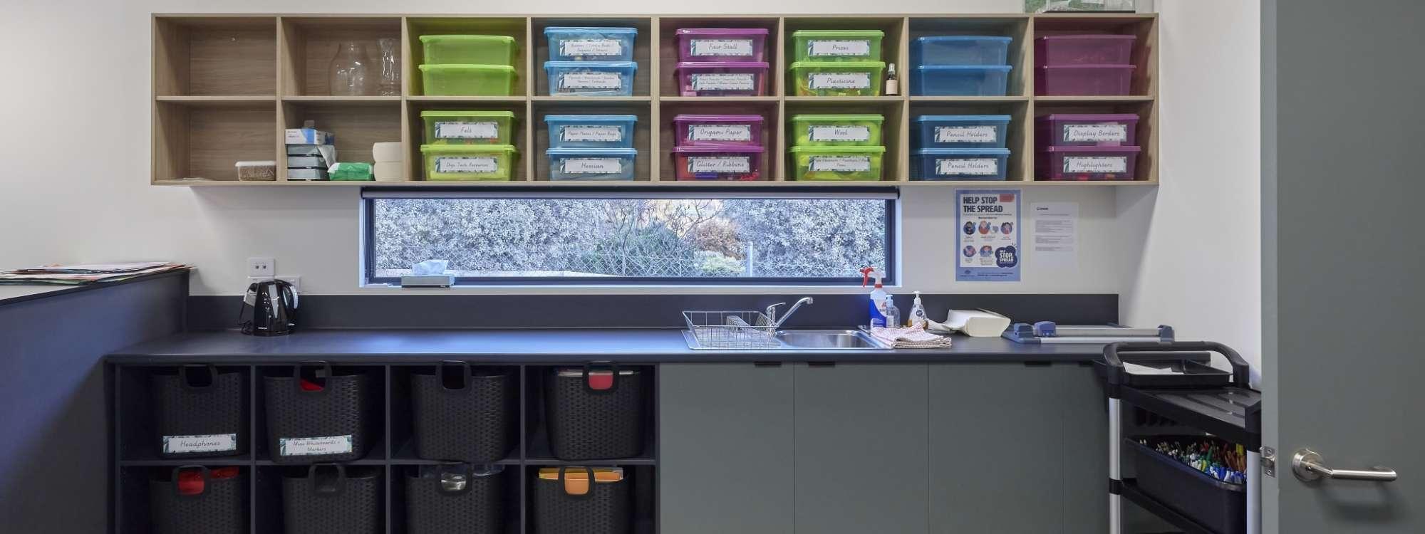 Large storage space in tasmanian commercial school