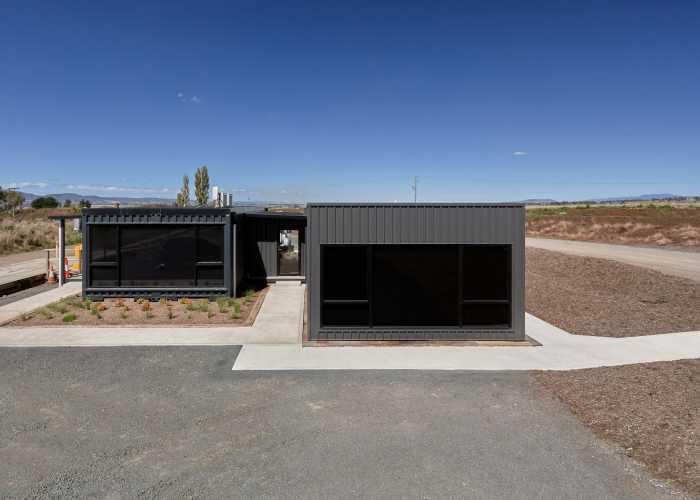Container looking modular building in Launceston Tasmania