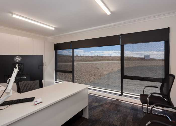 Large commercial office space with doubel glazed windows