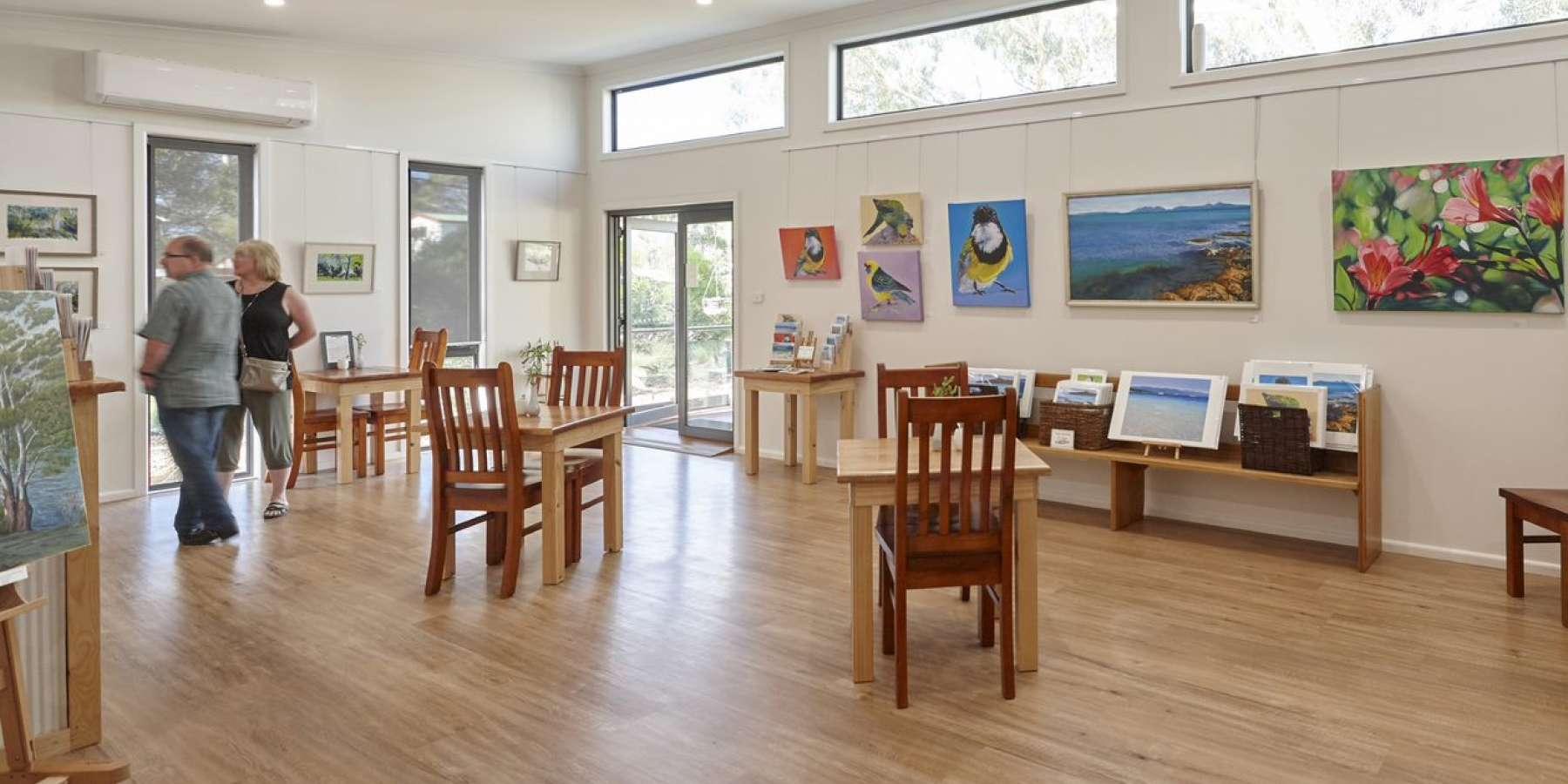 Art gallery on East Coast Tasmania